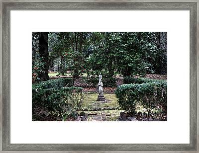Religion In The Garden Framed Print by John Rizzuto