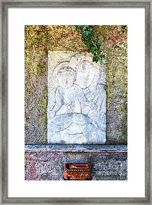 Religious Relief Framed Print by Regina Koch