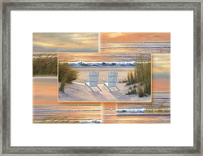 Relocated - Paradise Sunset Framed Print