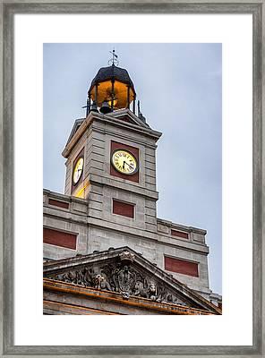 Reloj De Gobernacion 2 Framed Print