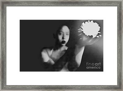 Reluctent To Hold Beauties Glow Framed Print by Jessica Shelton