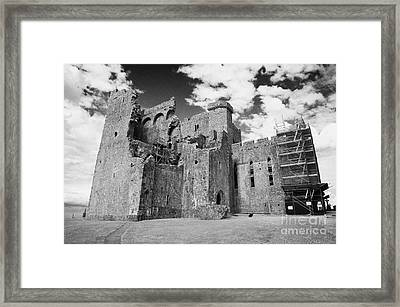 remains of 13th century cathedral Rock of Cashel tipperary ireland Framed Print