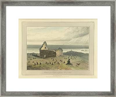 Remains Of A Temple At Galston Framed Print by British Library
