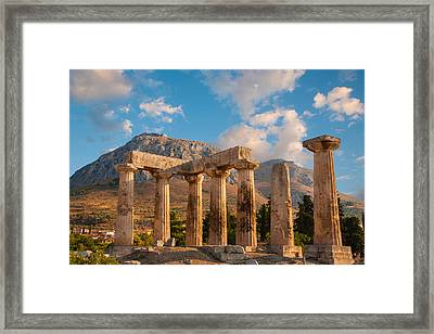 Remains Of Apollo Temple Framed Print