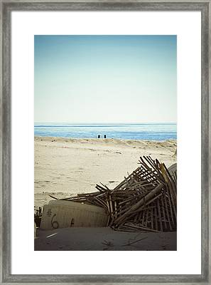 Remains Of Hurricane Sandy Framed Print by Trish Tritz