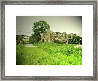 Remains Of Lodge Farm, This Ruin Was Likely Framed Print by Litz Collection
