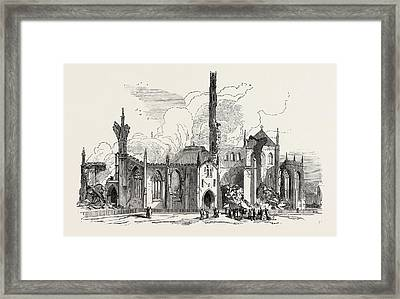Remains Of St. Georges Church, Doncaster Framed Print