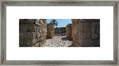 Remains Of Tel Megiddo, Galilee, Israel Framed Print
