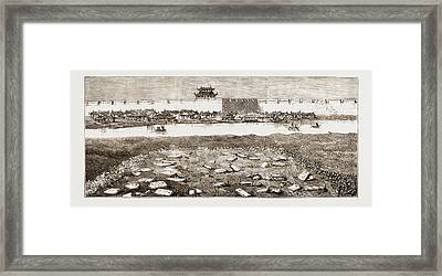 Remains Of The British Military Cemetery At Tientsin Framed Print