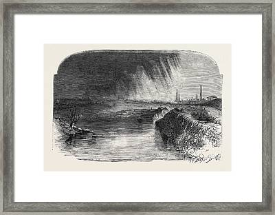 Remains Of The Burst Reservoir Framed Print by English School