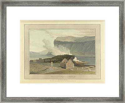 Remains Of The Chapel On Inch Kenneth Framed Print by British Library