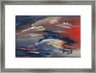 Remains Of The Day Framed Print by Donna Blackhall
