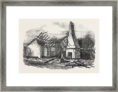 Remains Of The National School At Capel Near Ipswich Struck Framed Print