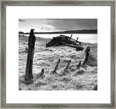 Remains Of The Severn Trow Severn Collier At Purton Framed Print by Rachel Down