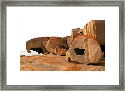 Framed Print featuring the photograph Remarkable Rocks by Evelyn Tambour
