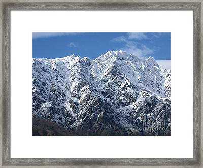 Remarkables Mountains  Framed Print by  Lines
