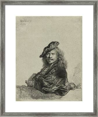 Rembrandt Self Portrait 1639 Framed Print by Movie Poster Prints