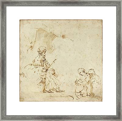 Rembrandt Van Rijn, Dutch 1606-1669, Esther Before Ahasuerus Framed Print