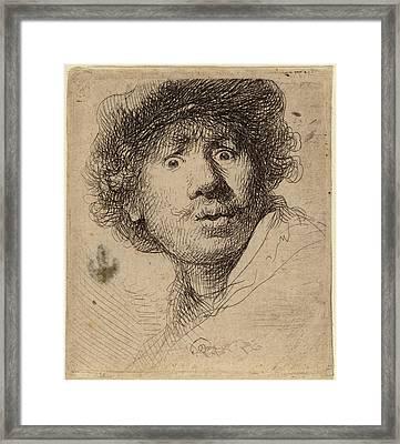 Rembrandt Van Rijn Dutch, 1606 - 1669, Self-portrait Framed Print by Quint Lox