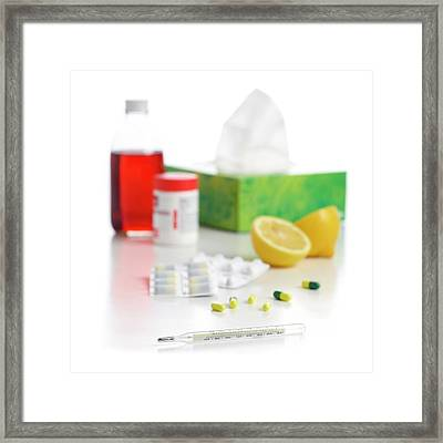 Remedies For The Common Cold Framed Print