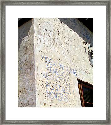 Framed Print featuring the photograph Remedios by Brenda Pressnall