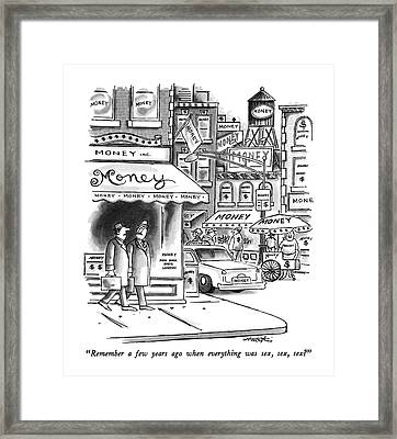 Remember A Few Years Ago When Everything Was Sex Framed Print by Henry Martin