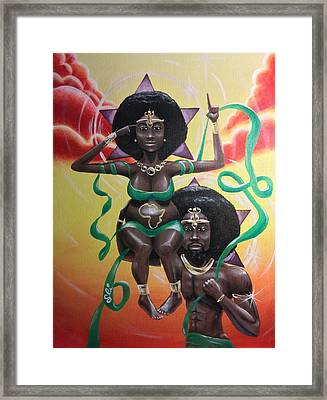 Remember Divinity Framed Print by Sean Ivy aka Afro Art Ivy