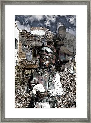 Framed Print featuring the digital art Remember Home by Angel Jesus De la Fuente