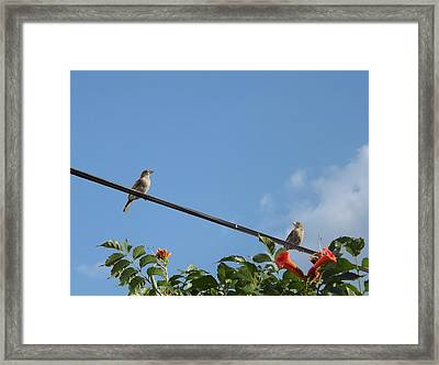 Remember How We Met Online Framed Print