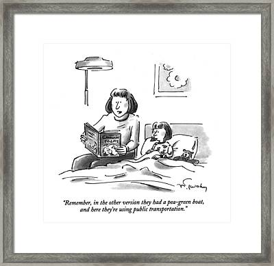 Remember, In The Other Version Framed Print by Mike Twohy