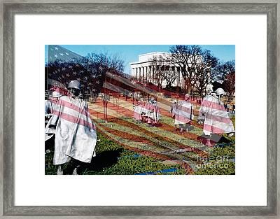 Remember Korean War Veterans Framed Print by D Hackett