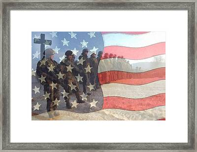 Remember Our Troops Framed Print by Ernie Echols
