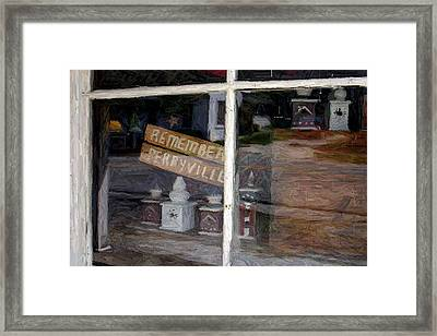 Remember Perryville - Perryville Ky  Framed Print