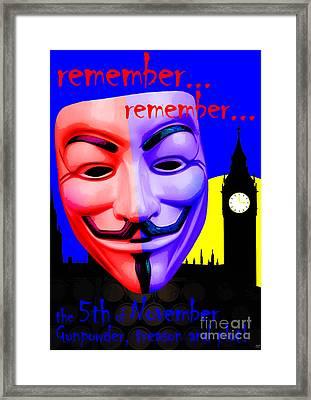 Remember Remember Framed Print by Neil Finnemore