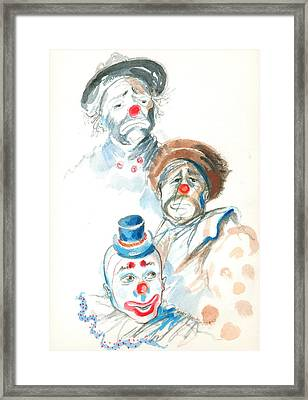 Remember The Clowns Framed Print by Mary Armstrong