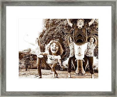 Remember The Days In The Backyardigans Framed Print