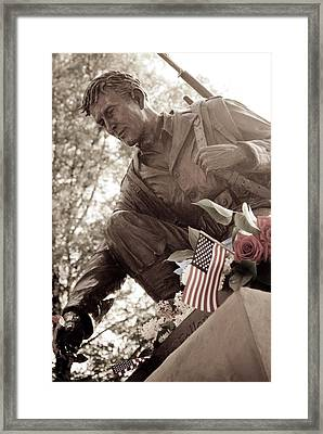 Framed Print featuring the photograph Remember The Fallen by Chris McKenna
