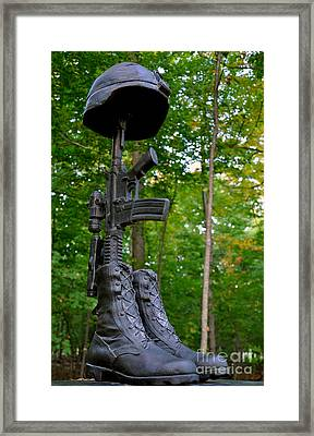 Framed Print featuring the photograph Remember The Fallen by Gina Savage