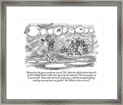 Remember The Great Cranberry Scare Of '59? Framed Print