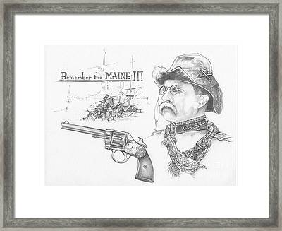 Remember The Maine Framed Print