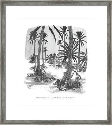 Remember The Old Oasis Cafe On Second Avenue? Framed Print