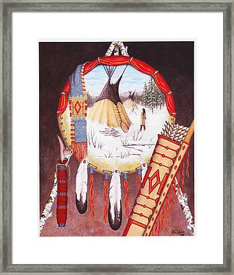Remember The Past Framed Print by Billie Bowles