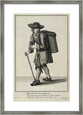 Remember The Poor Prisoners Framed Print by British Library