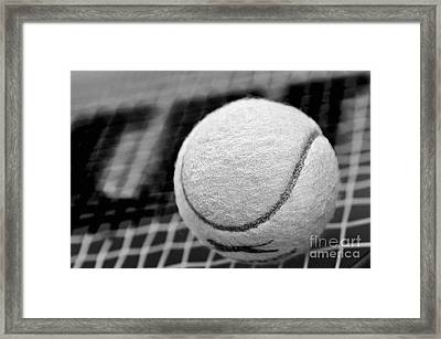 Remember The White Tennis Ball Framed Print