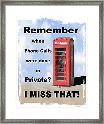 Remember When . . . Framed Print