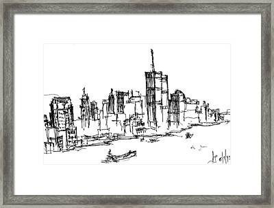Remember World Trade Center Framed Print
