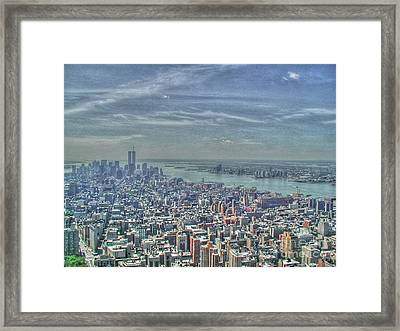 New York Remembering 9/11 Framed Print