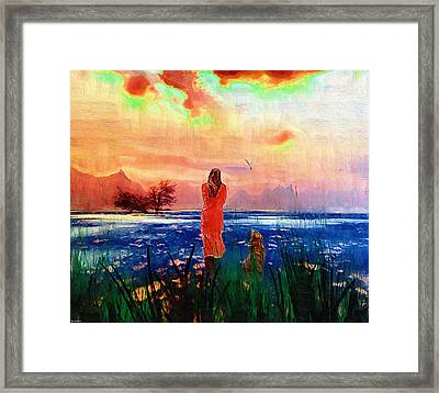 Remembering A Past Farewell. Framed Print