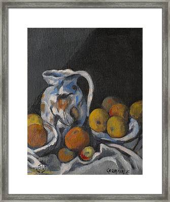 Remembering Cezanne Framed Print