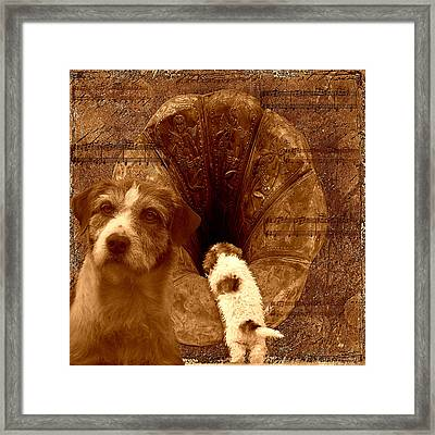 Remembering His Masters Voice Framed Print by Veronica Ventress